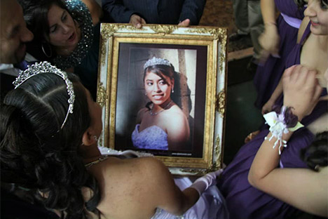 Framed photo of girl in a tiara
